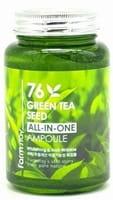 "FarmStay ""76 Green Tea All-In-One Ampoule"" Многофункциональная ампульная сыворотка с зелёным чаем, 250 мл."
