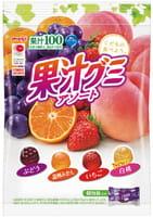 Meiji Жевательные конфеты - фруктовое ассорти, мягкая упаковка, 90 гр. -