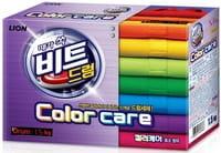 CJ LION «Beat Drum Color Care» Концентрированный стиральный порошок для цветного белья «Защита цвета», для автоматической стирки, 1,5 кг.