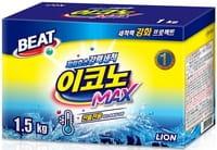 """CJ Lion """"Beat Econo Max"""" Концентрированный стиральный порошок для ручной и автоматической стирки в холодной воде (для всех видов тканей), 1,5 кг."""