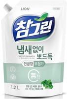 CJ LION «Chamgreen» Средство для мытья посуды «Свежий шпинат», мягкая упаковка, 1200 мл.