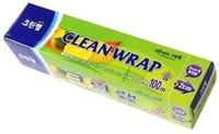 Clean Wrap Плотная пищевая пленка, отрывным краем-зубцами, 22 см х 100 м.