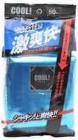 SHOWA SIKO «Cool!» Освежающие влажные салфетки для лица, с ароматом ментола, 20х20 см, 50 шт.