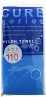Ohe Corporation «Cure Nylon Towel» (Regular) массажная мочалка средней жесткости, голубая, 28 см. на 110 см.