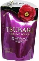 SHISEIDO «Tsubaki Volume Touch» Кондиционер для придания объёма волосам, с маслом камелии, мягкая упаковка, 345 мл.