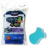 "Clean Wrap Трёхслойная губка для мытья посуды ""Рыбка"", с двойным нейлоновым покрытием, 11,5х9х2,5 см."