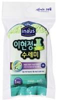 Cleanwrap Губка для мытья посуды «Рыбка», из целлюлозы с нейлоновым покрытием, 11,5х9х2,5 см.