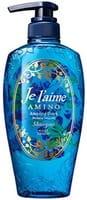 KOSE Cosmeport «Je l'aime - Amino» Шампунь для повреждённых волос «Гладкость и увлажнение», с аминокислотами, растительно-цветочный аромат, 500 мл.