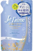 KOSE Cosmeport «Je l'aime - Amino» Тритмент для повреждённых волос «Глубокое увлажнение», с аминокислотами, цветочный аромат, запасной блок, 400 мл.