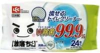 LEC Влажные салфетки для унитаза, с дезодорирующим и дезинфицирующим эффектом, с ионами серебра, 25x16 см, 24 шт.