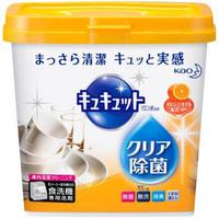 KAO «KyuKyutto» Порошок для посудомоечных машин с дезинфицирующим эффектом лимонной кислоты, с ароматом апельсина, 680 гр.