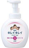 """LION LION """"KireiKirei"""" Пенное антибактериальное мыло для рук - для всей семьи, с маслом лимона, фруктово-цитрусовый аромат, 500 мл."""