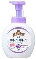 """Lion """"KireiKirei"""" Пенное антибактериальное мыло для рук - для всей семьи, с цветочным ароматом, 500 мл."""