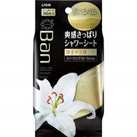 LION «Refresh Shower Sheets» Дезодорант-антиперспирант ионный, искрящийся цветочный аромат, для всего тела, в виде салфеток, 36 шт.