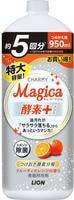 """LION """"Charmy Magica+"""" Средство для мытья посуды, концентрированное, аромат фруктово-апельсиновый, сменная упаковка, 950 мл."""