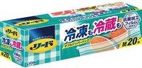 """LION """"Reed"""" Пакет с двойной молнией для длительного хранения и замораживание продуктов и готовых блюд в холодильнике / морозильнике. Размер М (20,6х17,8 см), 20 шт."""