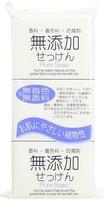 """Nihon """"No added pure soup"""" Натуральное кусковое мыло без добавок, для всей семьи, для всей семьи, 3 шт по 125 гр."""