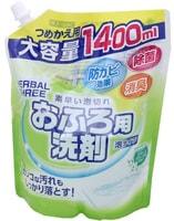 Mitsuei Пенящееся чистящее средство для ванной с антибактериальным эффектом, с цветочно-травяным ароматом, для флаконов с распылителем, 1400 мл.