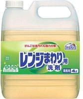 Mitsuei Чистящее средство для удаления жирных загрязнений с поверхностей плит, печей, кафеля, вытяжки, стен и виниловых полов (с ароматом лимона, для флаконов с дозатором-крышкой), 4 л.