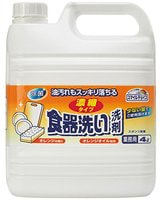 Mitsuei Концентрированное средство для мытья овощей и фруктов, посуды и кухонных принадлежностей, с апельсиновым маслом, 4 л.