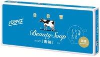 COW «Beauty Soap» Молочное освежающее туалетное мыло с прохладным ароматом жасмина синяя упаковка, 6 шт. по 130 гр.