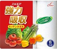 Ellemoi Кухонные бумажные полотенца, 6 рулонов по 50 отрезков.