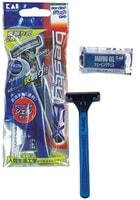 KAI Одноразовый бритвенный станокплавающей головкой и двойным лезвием + гель для бритья.