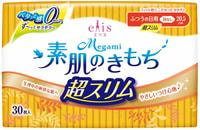 Daio Paper Japan Ультратонкие особомягкие гигиенические прокладки, без крылышек (Нормал) 20,5 см, 30 шт.