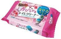 Life-do Влажные салфетки - водорастворимые, спиртосодержащие, с антибактериальным эффектом, для обработки унитаза, цветочный аромат, 30 шт.