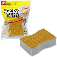 LEC Абразивная губка с напылением из зерен кукурузы - для чистки картофеля, моркови и других овощей, 60*25*90 мм, 1 шт.