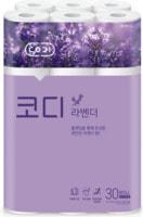 """Ssangyong """"Codi Lavender"""" туалетная бумага с ароматом лаванды (трехслойная, тиснёная), 30 м * 30 рулонов."""