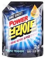 """MUKUNGHWA """"One shot! Power Bright Liquid Detergent"""" Жидкое средство для стирки с ферментами, очищающее до глубины волокон и придающее яркость, сменная упаковка с крышкой 2 л."""
