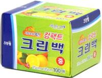 Clean Wrap Пакеты фасовочные в коробке с клапаном для отрывания, размер M, 25*35 см, 100 шт.