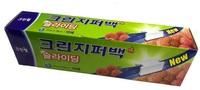 Clean Wrap Плотные полиэтиленовые пакеты на молнии для хранения и замораживания горячих и холодных пищевых продуктов, 27 см*28 см, 15 шт.