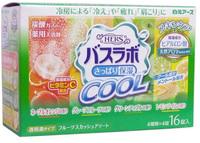 """HAKUGEN """"HERS Bath Labo COOL"""" Освежающая соль для ванны с охлаждающим эффектом, на основе углекислого газа, с гиалуроновой кислотой и витамином С, с ароматами: апельсина, грейпфрута, зеленого яблока, лайма, 45 гр.*16 табл."""