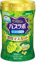 """Hakugen """"Hakugen Earth - Hers Bath Labo"""" Увлажняющая соль для ванны с восстанавливающим эффектом с гиалуроновой кислотой, с ароматом винограда, банка 640 гр."""