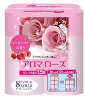 FUJIEDA уалетная бумага двухслойная, аромат розы и малины, 8 рулонов по 45 м.