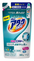 """KAO """"Attack Ultra Neo"""" Жидкое концентрированное средство с отбеливающим эффектом для быстрой стирки белья, с ароматом фруктового мыла, сменная упаковка, 360 гр."""