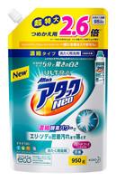 """KAO """"Attack Ultra Neo"""" Жидкое концентрированное средство с отбеливающим эффектом для быстрой стирки белья, с ароматом фруктового мыла, сменная упаковка, 950 гр."""