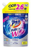 """KAO """"Attack Neo EX Power"""" Жидкое концентрированное средство для стирки белья с антибактериальным эффектом, с морским ароматом, сменная упаковка, 950 гр."""