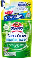 """KAO """"Magiclean Super Clean"""" Пенящееся моющее средство для ванной комнаты с ароматом зелени, сменная упаковка, 330 мл."""