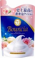 """COW """"Bouncia"""" Жидкое увлажняющее мыло для тела """"Взбитые сливки"""" с гиалуроновой кислотой и коллагеном, цветочно-фруктовый аромат, запасной блок, 400 мл."""