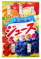 Senjaku Фруктовые леденцы SENJAKU, вкус вишни, яблока, персика, мандарина и винограда, мягкая упаковка 70 г