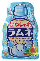 Senjaku Шипучие леденцы со вкусом лимонада SENJAKU, мягкая упаковка 75 г
