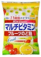Senjaku Мультивитаминные фруктовые леденцы, вкус лимона, клубники и яблока, мягкая упаковка, 80 гр.