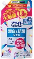 """LION """"Bright STRONG - Супер Яркость""""Гель-отбеливатель кислородный для стойких загрязнений, с антибактериальным эффектом, сменная упаковка, 900 мл."""