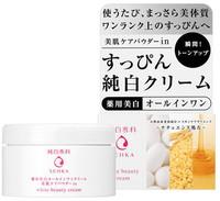 """SHISEIDO """"Pure White Senka"""" Увлажняющий крем """"Все-в-одном"""" для лица, против пигментных пятен, с маслом зародышей риса и медом, 100 гр."""