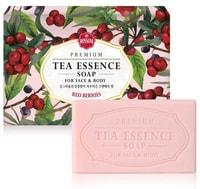 """MUKUNGHWA """"Premium tea essence soap"""" Эссенциальное косметическое мыло с экстрактами черного чая, целебных трав, маслами Ши и Жожоба, аромат """"Прекрасные ягоды"""", 135 гр."""