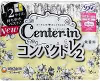 """Unicharm """"Center-in"""" Тонкие гигиенические прокладки - Super 24 см, с крылышками, пачка 17 шт."""
