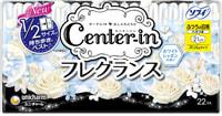 """Unicharm """"Center-in"""" Гигиенические прокладки с ароматом садовых цветов - Normal 21 см, с крылышками, пачка 22 шт."""